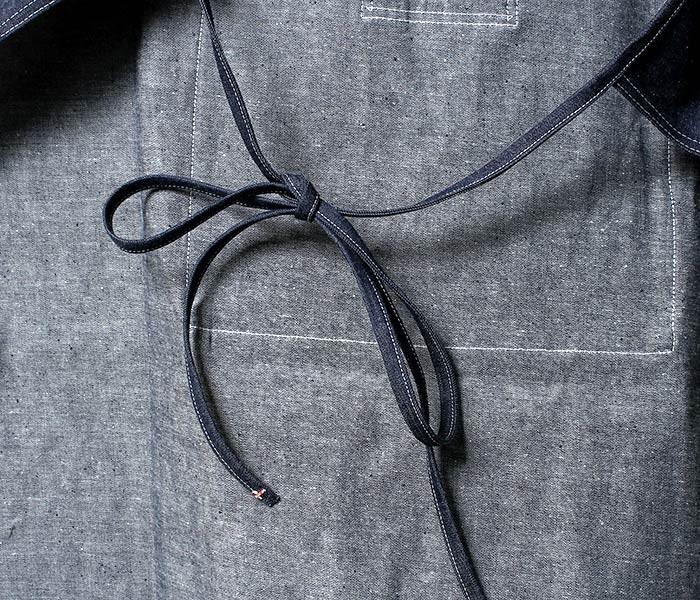 [送料無料]オアスロウ(オアスロー)/orSlow 日本製 デニム ヒッコリー エプロン (03--019-APRON)