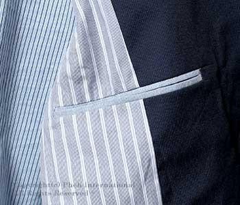 [送料無料]フランクリーダー/FRANK LEDER ドイツ製 ''ブルー/ブラウンライトコットン''ジャケット(0512023)