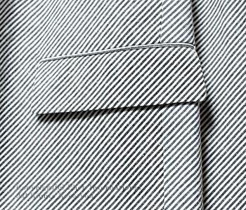 [送料無料]フランクリーダー/FRANK LEDER ドイツ製 ''ビッグストライプ''コットン/リネンジャケット(0512090)