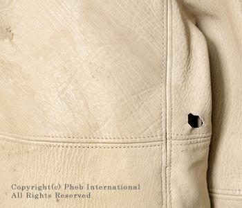 [送料無料]フランクリーダー/FRANK LEDER ドイツ製 ''プラント ダイド ディアスキン'' レザーボマー ジャケット ジャンパー (0827110)