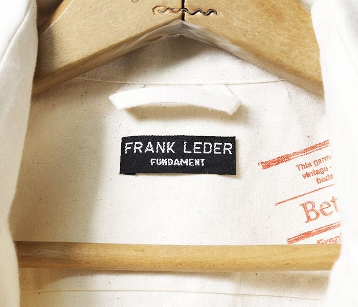 [送料無料]フランクリーダー/FRANK LEDER ドイツ製 ''ヴィンテージベッドリネン'' ワークジャケット カバーオール (VTG-BEDLINEN-JACKET(0911034))