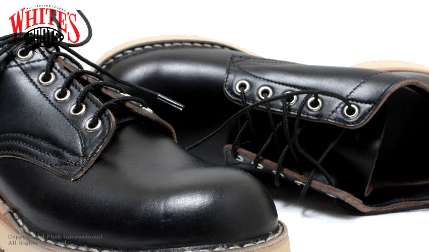ハソーン/HATHORN BY ホワイツ/WHITE'S BOOTS ''クロムエクセルレザー''ブラックオックスフォードブーツ【104NWC-BLACK-CRM】