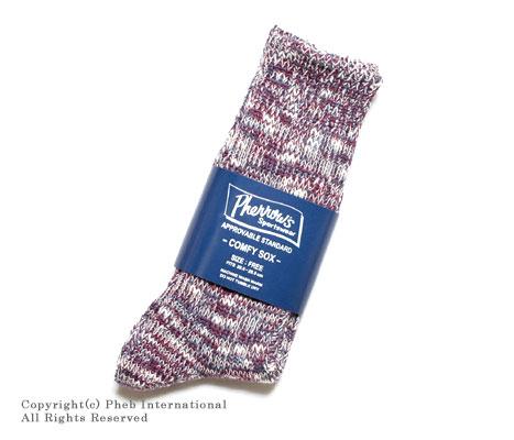 フェローズ/PHERROW'S(PHERROWS) ネップミックスソックス・靴下 【COMFY SOX】