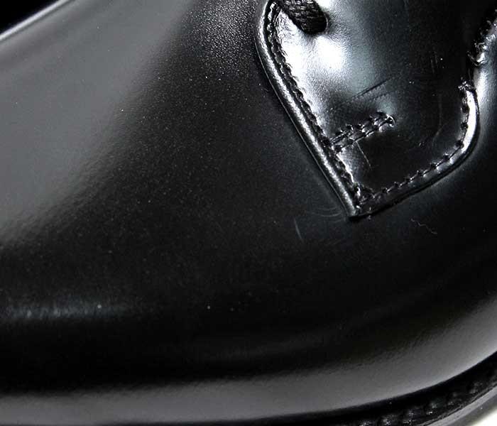 [送料無料]サンダース/SANDERS 英国製 ''ブラック'' ミリタリー ホールカット プレーントゥシューズ(1397-BLACK)