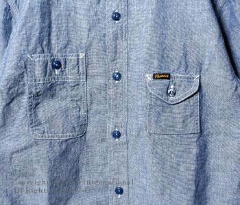 フェローズ/PHERROW'S(PHERROWS) ガチャポケ半袖ワークシャツ【750WSS-SS】