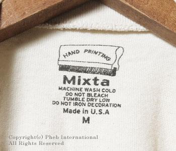 ミクスタ/MIXTA アメリカ製プリントTシャツ【MXA-2000】