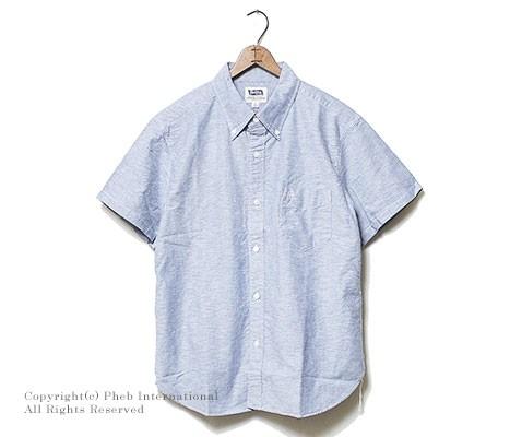 [送料無料]フェローズ/PHERROW'S(PHERROWS) 日本製 半袖ボタンダウンシャツ(PBDS1-SS)