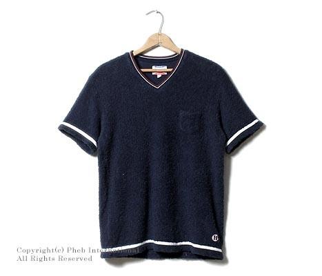 フェローズ/PHERROW'S(PHERROWS) 日本製 バカパイルVネックポケT Tシャツ(BAKA-VNECK-T)