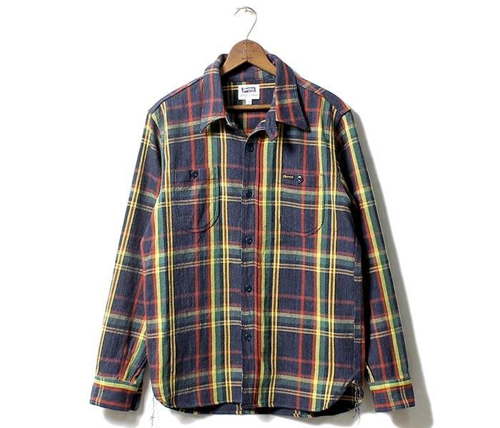 [送料無料]フェローズ/PHERROW'S(PHERROWS) 日本製 ヘビーウェイト ネルシャツ (17W-720WS)