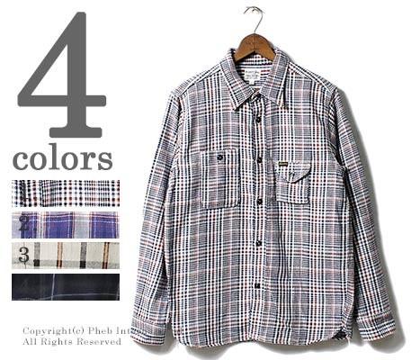 [送料無料]フェローズ/PHERROW'S(PHERROWS) 日本製 ライトウェイト ネルシャツ (17W-750WS-C)