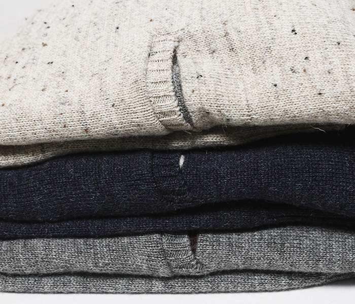 フェローズ PHERROW'S 日本製 ポケット内 切り替え クルーネックニット シェトランド セーター 2018AW (18W-PJPS1)