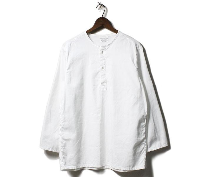 ワーカーズ WORKERS 日本製 スリーピング シャツ ノーカラー プルオーバー 2019SS Sleeping Shirt (1902-SLEEPING-SH)