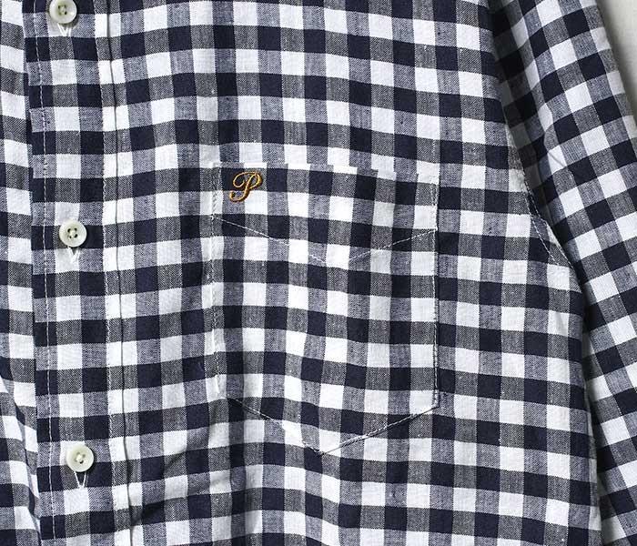 フェローズ PHERROW'S 日本製 COOLMAX 7分袖 ボタンダウン シャツ BDシャツ 2019SS (19S-P7BD2)