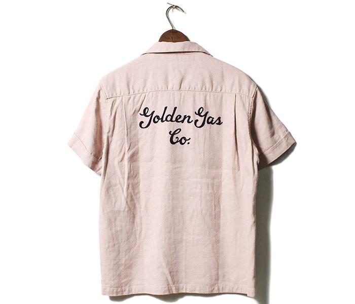 フェローズ PHERROW'S 日本製 GUS 半袖 オープンカラーシャツ 半袖シャツ シルク/リネン (19S-POS1)
