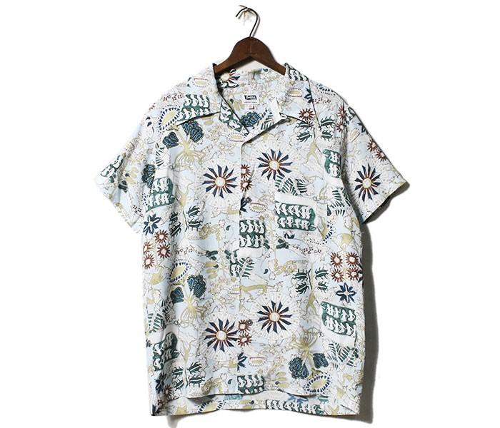 フェローズ PHERROW'S 日本製 ヴォイニッチ ハワイアンシャツ アロハシャツ (19S-VOYNICH)