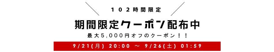 期間限定 最大5,000円オフクーポン