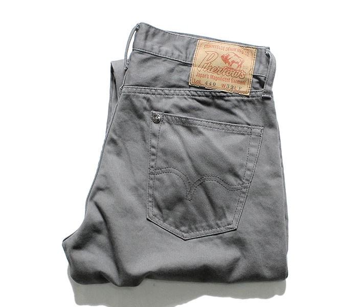 [送料無料]フェローズ/PHERROW'S(PHERROWS) 日本製 サテン 5ポケット テーパード アンクル丈パンツ (440SC-SATEEN)