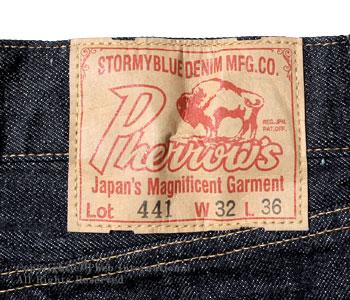 フェローズ/PHERROW'S(PHERROWS) タイトフィットジーンズ【441SW-OW(スターチドウォッシュ/ワンウォッシュ)】