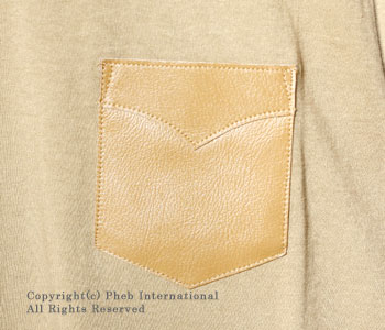ロッキーマウンテンフェザーベッド/ROCKY MOUNTAIN FEATHERBED レザーポケットTシャツ【450-481-22 LEATHER POCKET T-SHIRTS】 [あす楽対応]