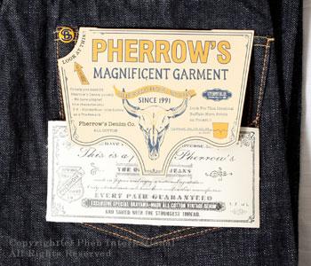フェローズ/PHERROW'S(PHERROWS) ルーズストレートジーンズ【451SW(スターチドウォッシュ/ワンウォッシュ)】 [送料無料]