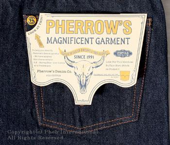 フェローズ/PHERROW'S(PHERROWS) タイトフィットジーンズ【466SW(スターチドウォッシュ/ワンウォッシュ)】 [送料無料]