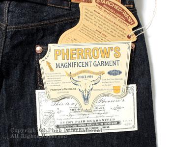 フェローズ/PHERROW'S(PHERROWS) 1920年代モデルシンチバック付きジーンズ 【10F-500SW】 [送料無料]