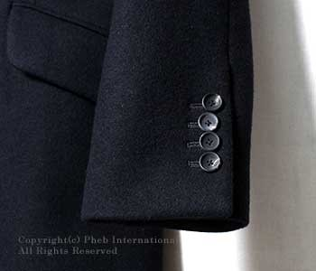 [送料無料]サイベーシックス/SCYE BASICS 日本製 ウールカシミヤメルトン チェスターフィールドコート(5116-73523)