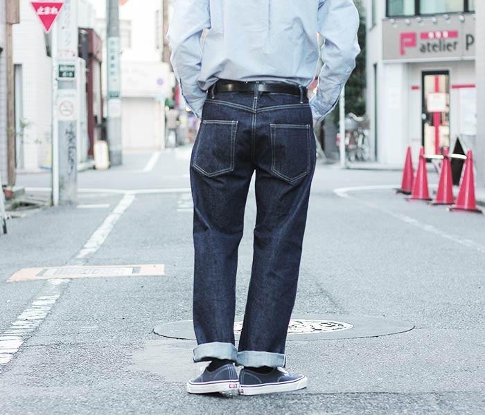 [送料無料]サイベーシックス/SCYE BASICS 日本製 セルビッジデニム ジーンズ サンホアキンデニム サスペンダーボタン  ワイドストレート (5118-81512)