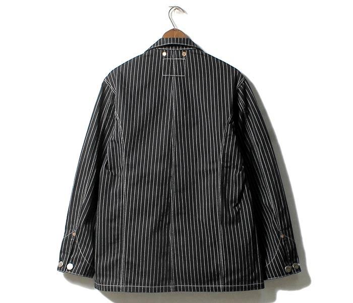 [送料無料]フェローズ/PHERROW'S(PHERROWS) 日本製 ブラックウォバッシュ 1920年代スタイル カバーオール (555CA-BLACK-WABASH)