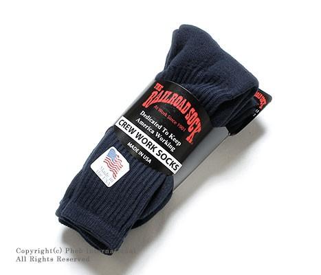 レイルロードソック/RAILROAD SOCK アメリカ製メンズ3Pフルテリークッションフットソックス/靴下【FULL TERRY CUSHION FOOT】