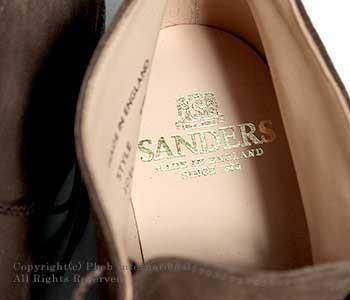[送料無料]サンダース/SANDERS 英国製''スナッフ(ブラウン)''ハイトップチャッカブーツ・プレイボーイチャッカ【6480-SNUFF】
