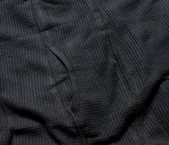 インデラミルズ(インデラ)/INDERA MILLS ブラック/グレー ワッフル生地 100%コットン 6.5oz ヘビーウェイト サーマルパンツ (839DR-PANTS-BLKGRY)