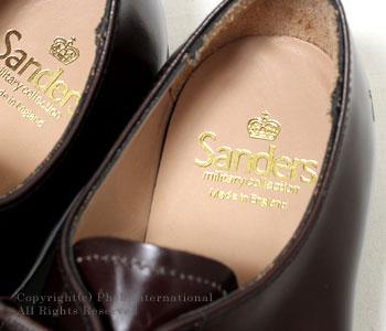 [送料無料]サンダース/SANDERS 英国製''バーガンディ''ミリタリーダービーシューズ(1128-BURGUNDY)