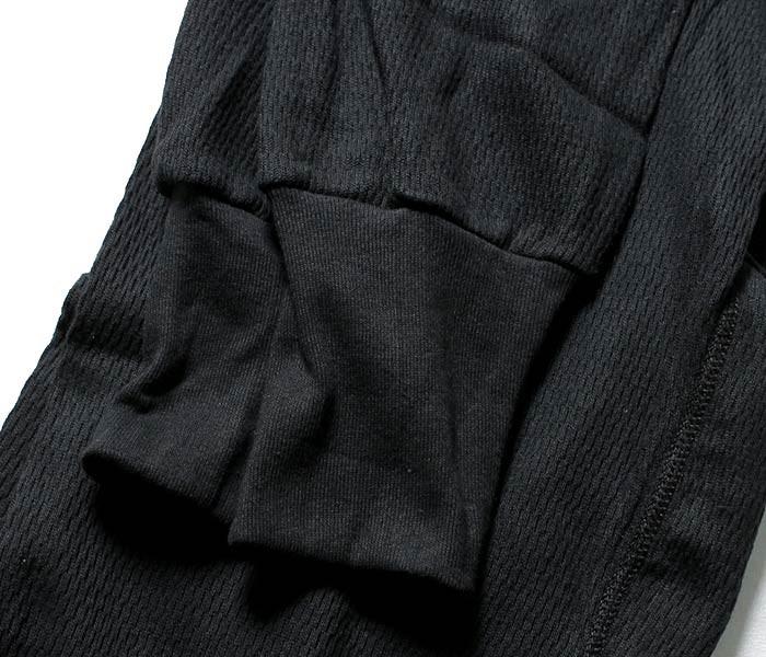 インデラミルズ(インデラ)/INDERA MILLS ブラック ハニカム構造 100%コットン 9.5oz エクスペディションウェイト サーマルパンツ (890DR-PANTS-BLK)