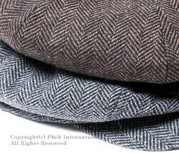 ニューヨークハット/NEWYORK HAT アメリカ製 ''ヘリンボーン ビッグアップル''キャスケット・帽子(9059 HERRINGBONE BIG APPLE)