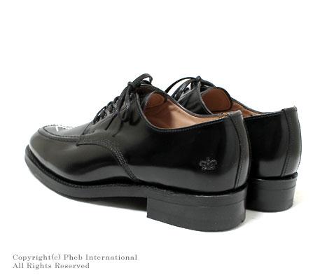 サンダース/SANDERS 英国製''ブラック''ブロードアローエプロンダービーシューズ【9251-BROAD-ARROW-BLACK】
