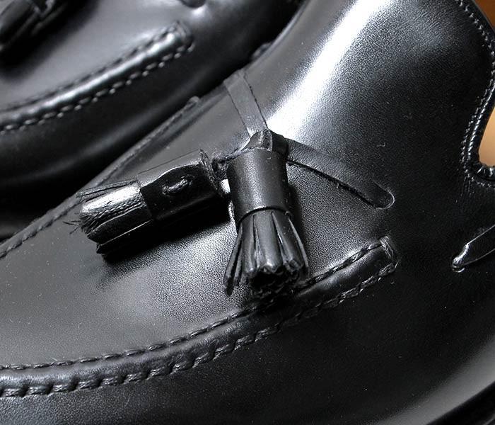[送料無料]ジャランスリワヤ/JALAN SRIWIJAYA×フェブ/PHEBオリジナルオーダー ''BLACK CALF'' EDWARDラスト レザーソール タッセルローファー (98811-EDWARD)