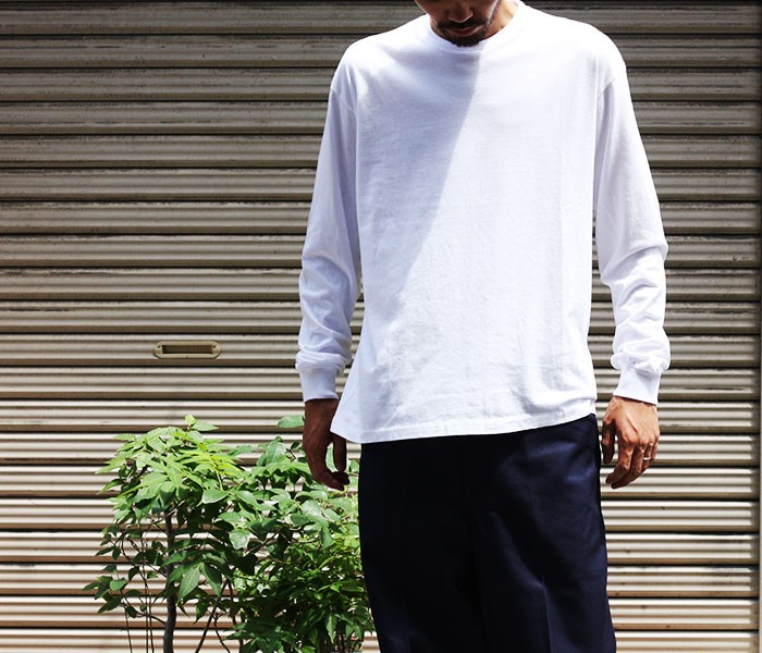 オーラリー/AURALEE 日本製 シームレス ロングスリーブTシャツ ロンT SEAMLESS L/S TEE (AURALEE-CREW-LONGT(A8AT02ST-LONGT))