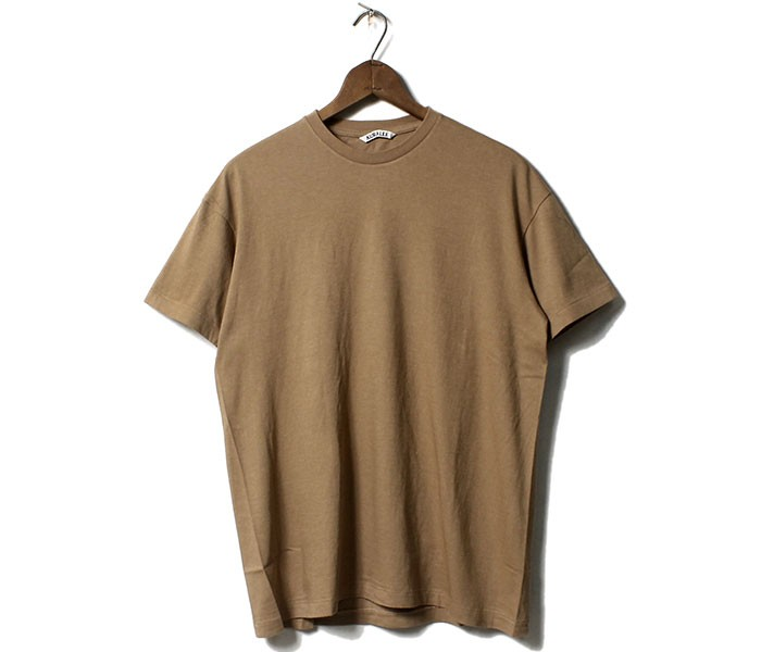 オーラリー AURALEE シームレス Tシャツ クルーネック 2019SS SEAMLESS CREW NECK TEE MADE IN JAPAN (A00T01ST-TEE)