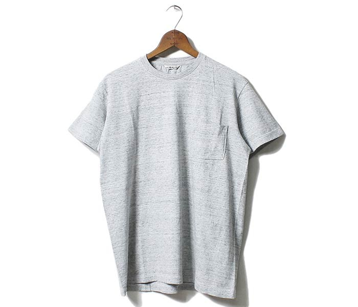 オーラリー/AURALEE 日本製 シームレス ポケT ポケット付きTシャツ SEAMLESS POCKET TEE (A00T02ST-P-TEE)