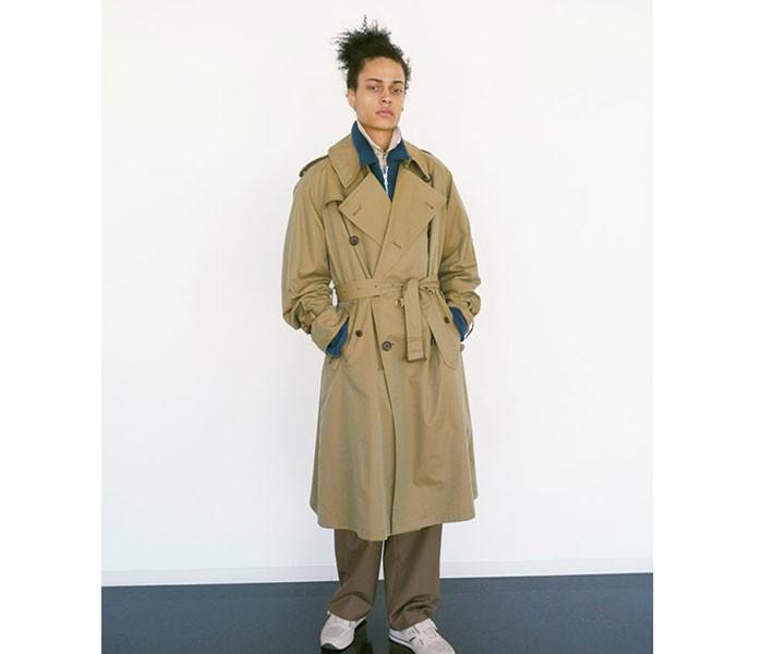 [送料無料]オーラリー/AURALEE 日本製 フィンクスシャンブレー ビッグトレンチコート FINX CHAMBRAY BIG TRENCH COAT (A7AC01CG-COAT)