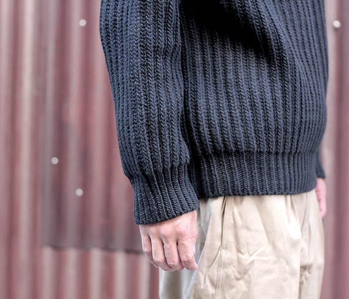 [送料無料]オーラリー/AURALEE 日本製 リブ編み スーパーミルド クルーネックセーター ニット SUPER MILLED RIB KNIT P/O (A7SP03RW-KNIT)