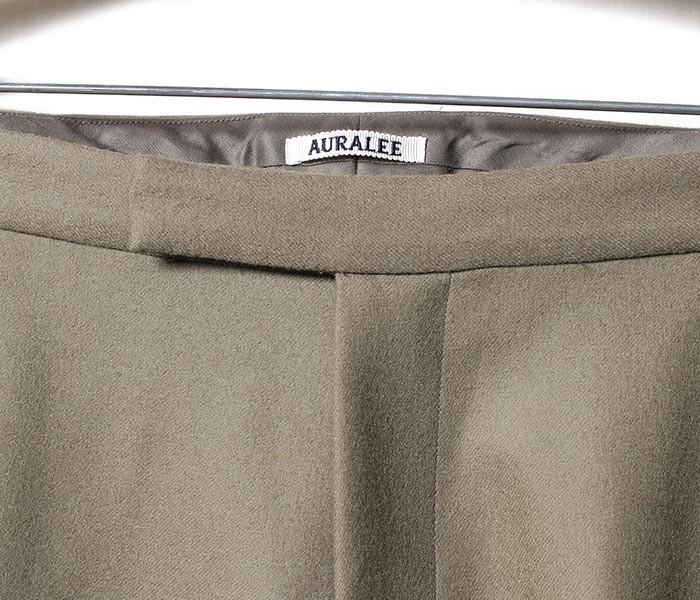 [送料無料]オーラリー/AURALEE 日本製 ライトメルトン スラックス パンツ LIGHT MELTON SLACKS (A7AP04LM-SLACKS)