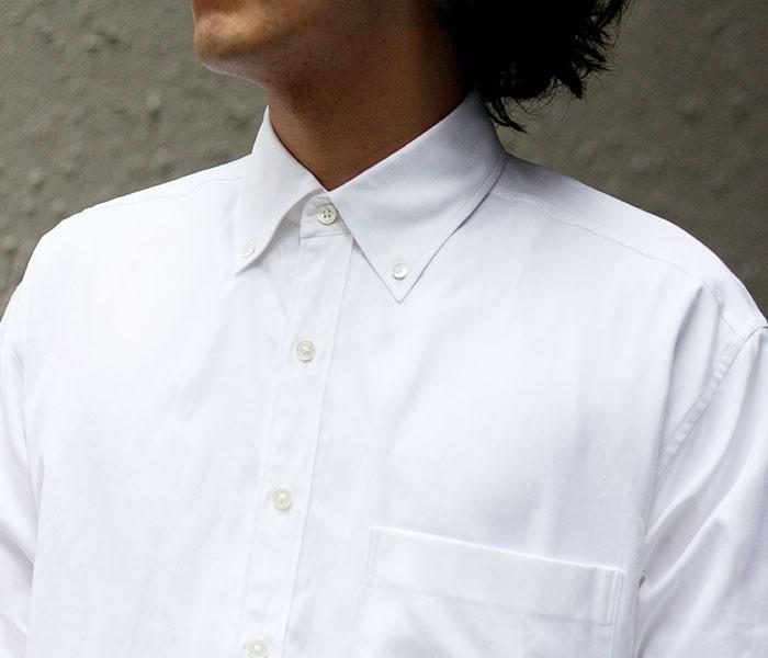 [送料無料]オーラリー/AURALEE 日本製 ボタンダウンシャツ フィンクスシャトル オックスフォード 2018AW (FINX-SHUTTLE-OX-BD(A8AS01SO))