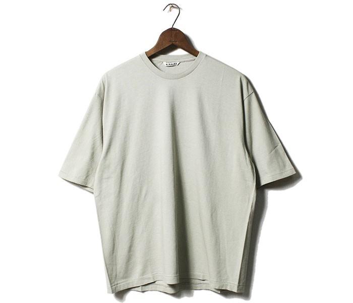 オーラリー AURALEE 5分袖 シームレス Tシャツ クルーネック 2019SS SEAMLESS CREW NECK HALF SLEEVE TEE MADE IN JAPAN (A00T02ST-HALF-T(A9ST02ST))