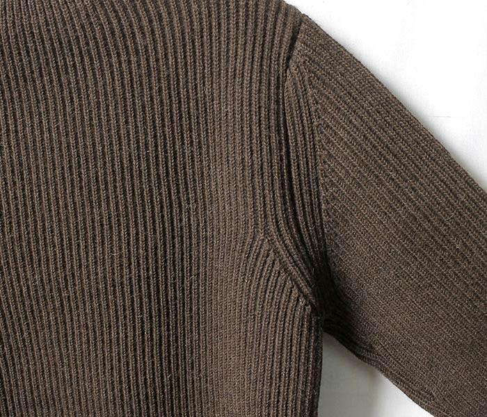 [送料無料]アンデルセン アンデルセン/ANDERSEN-ANDERSEN ''NATURAL COLOR WOOL'' クルーネック セーター リブニット (AA72115-NAT-CREW)