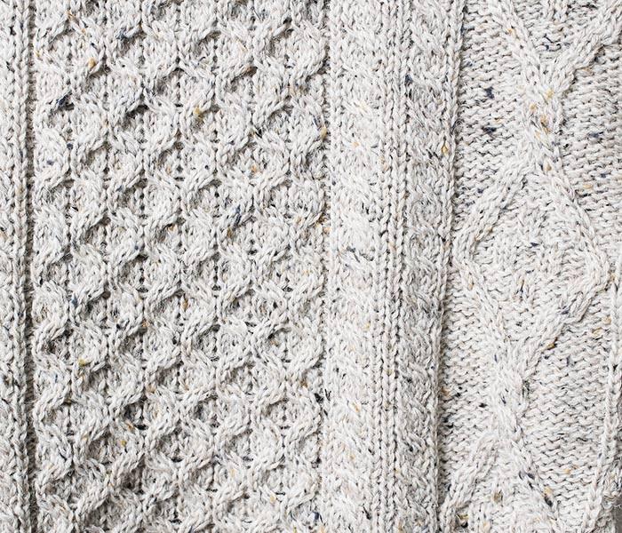 アランクラフト/Aran Crafts Ireland 英国製 アイリッシュ アランクルーネック セーター ニット (ACI-C1347)