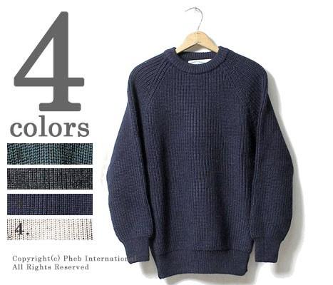[送料無料]アランクラフト/Aran Crafts Ireland 英国製 フィッシャーマンズ リブクルーネック セーター ニット (ACI-C761)