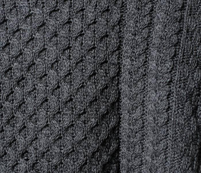 アランクラフト Aran Crafts Ireland 英国製 タートルネック アランセーター ニット メリノウール フィッシャーマン ロールネック アイリッシュ MERINO ROLL NECK SWEATER (ACI-R1949)