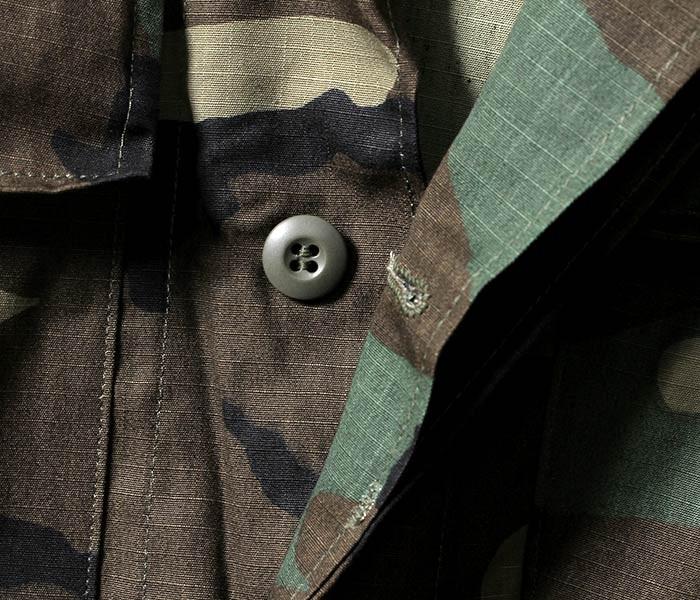 デッドストック/DEADSTOCK アメリカ製 1980s アメリカ軍 ウッドランド BDU コンバットジャケット リップストップ (BDU-RIP-WOOD)